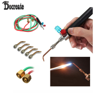 New Top Gas Torch Welding Soldering iron Little Torch Soldering With 5 Weld Tips