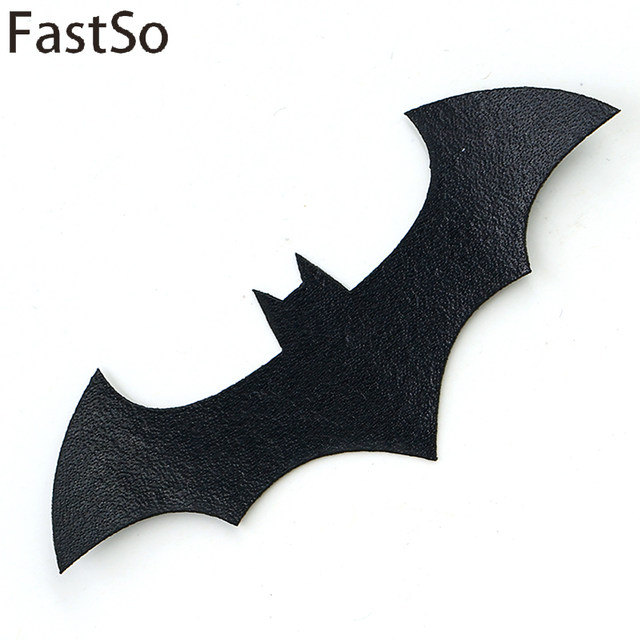 FastSo 1 Pcs Batman Dark Knight Patches For Clothing Embroidered Bat Logo Iron On Applique Morale Patch DIY Apparel Accessories
