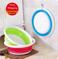 Creative Portable Travel Thickening Basin Plastic Outdoor Folding Baby Footbath Washtub