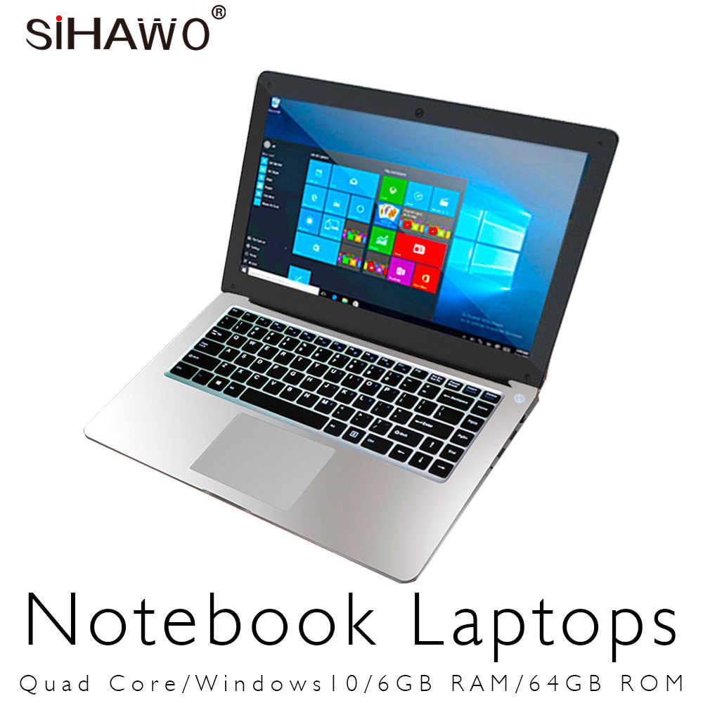 14.1 Inch Window10 Intel Celeron Apollo-Hồ Quad Core N3450 Laptop với bàn phím Full Size RAM 6 GB ROM 64 GB Wifi Siêu Máy Tính Xách Tay