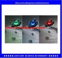 Светодиодный кран с водопадом Цвет изменение ванной кран и бассейна смеситель + 15 лет гарантии + бесплатная доставка