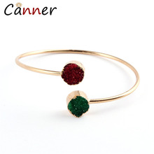 CANNER Fashion Simple Adjustable Resin Bracelet Gold Bangles for Women Girl pulseira Geometric Open Bangle Jewelry FI