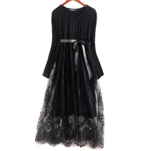 Long Sleeve Pregnancy Lace Party Gown