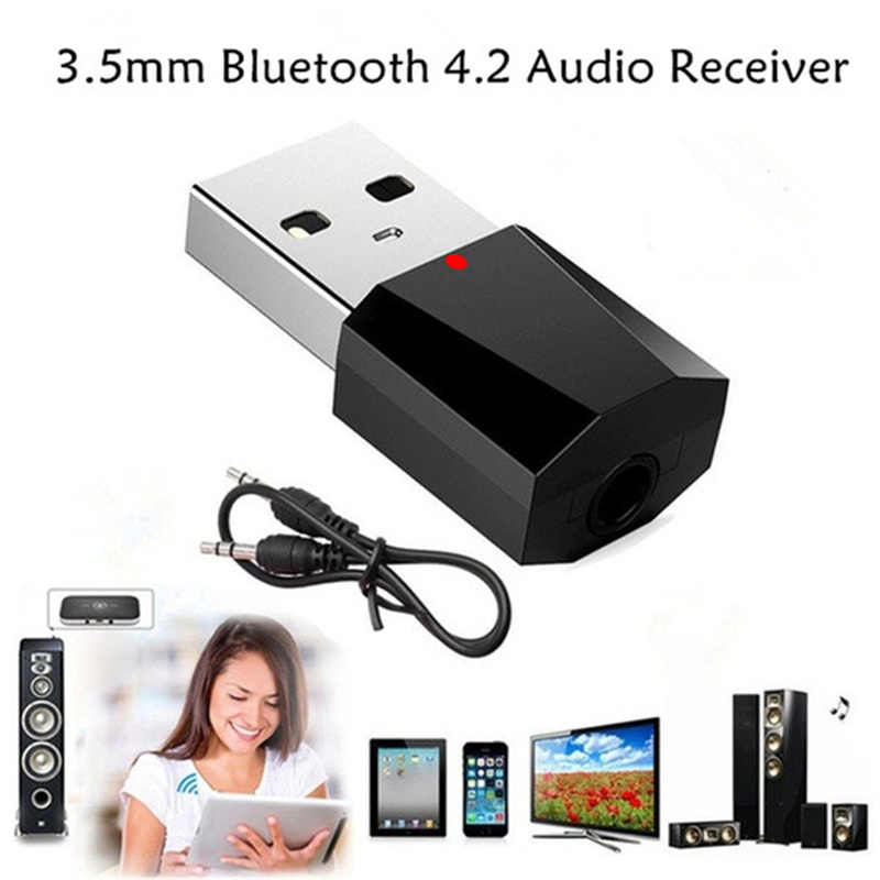 Bluetooth 4.2 Audio odbiornik nadajnik Mini Stereo Bluetooth AUX RCA USB 3.5mm Jack do telewizora PC zestaw samochodowy bezprzewodowy adapter