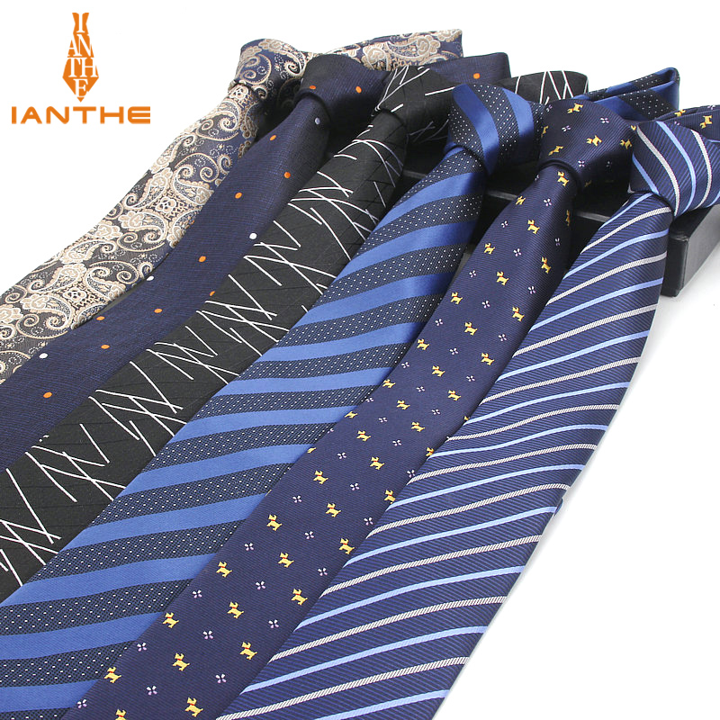6cm Men Neck Ties Fashion Dot Striped Plaid Necktie Gravata Slim Tie Classic Business Wedding Brand Tie For Men Narrow Neck Ties