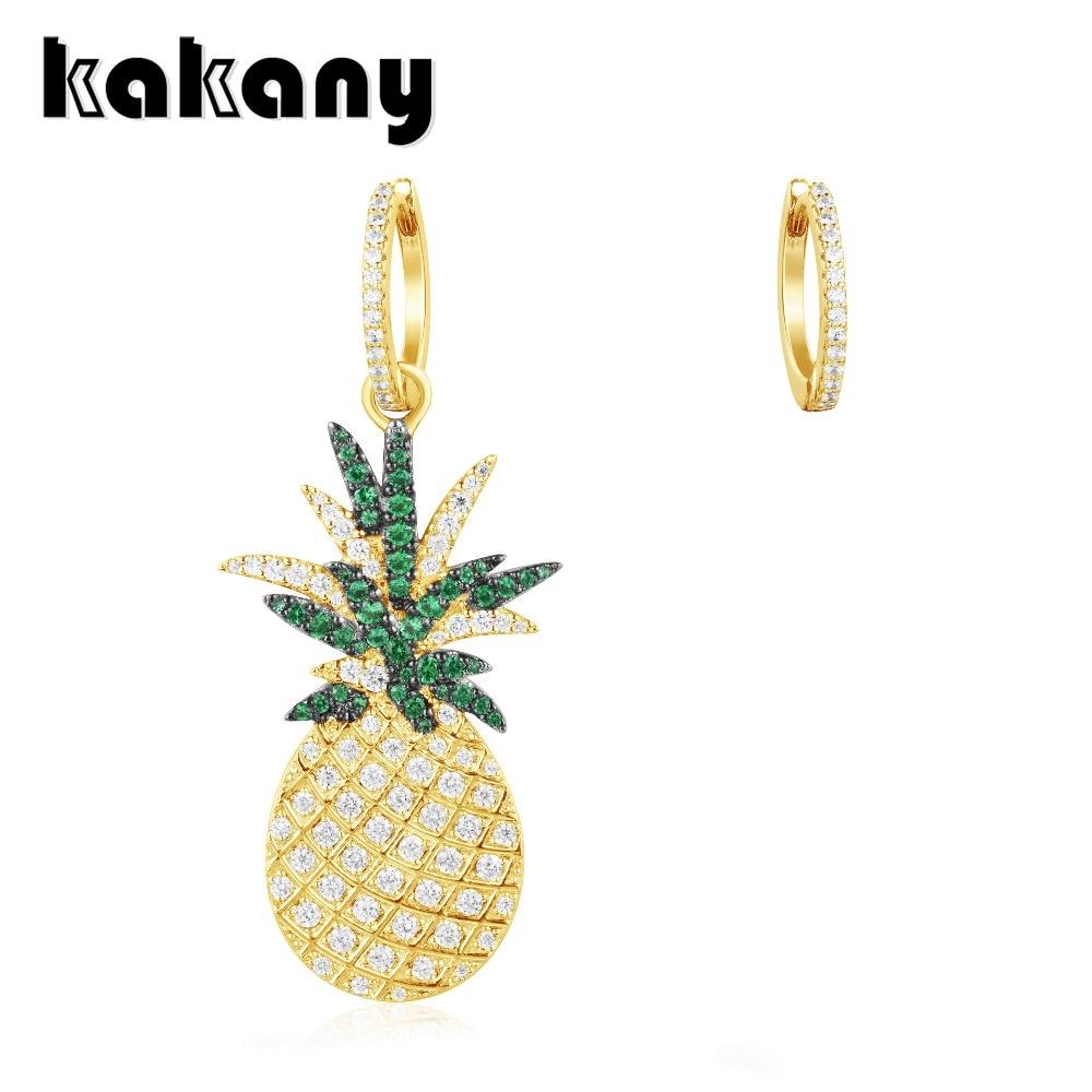 KAKANY Asymmetric Gold Yellow 925 Sterling Silver ARC-EN-CIEL Pineapple Earrings Moroccan Style Modern Classic Fashion JewelryKAKANY Asymmetric Gold Yellow 925 Sterling Silver ARC-EN-CIEL Pineapple Earrings Moroccan Style Modern Classic Fashion Jewelry