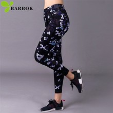 BARBOK girls running leggings sportwear tight trousers hip protection exercise pants women sports legging
