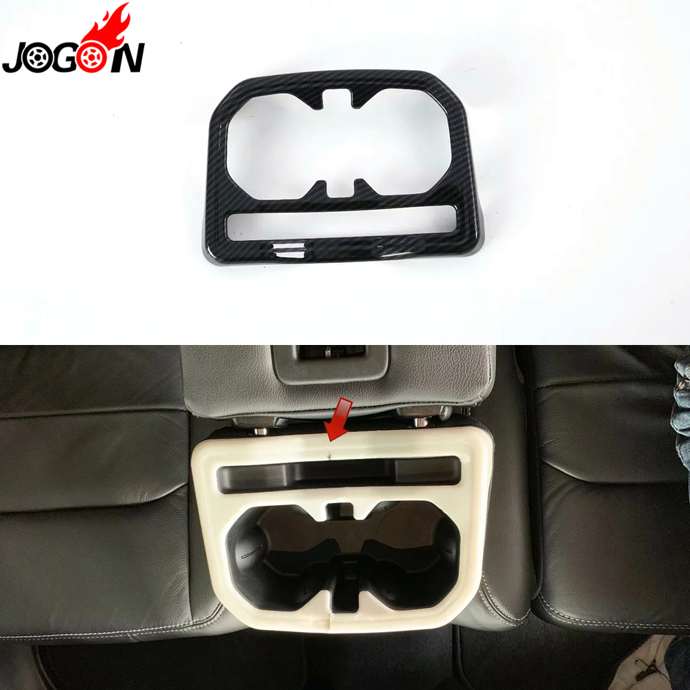Carbon Fiber Look Abs For Jeep Wrangler Jl 2018 2019 Car Styling In Water Interior Rear Seat Cup Holder Cover Trim Accessories Mouldings From