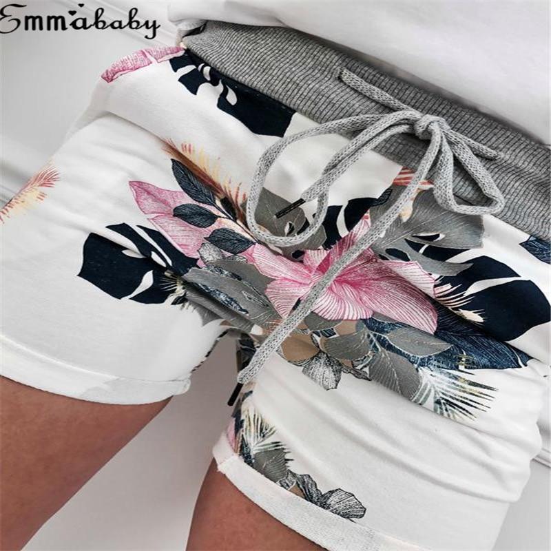 2Styles Women asual Shorts High Waist Floral Printed Drawstring Short For Ladies Elegant Vintage Shorts Plus Size XL