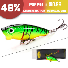 Купить с кэшбэком Banshee 45mm 3.3g Floating Wobbler Pike Fishing Crankbait Mini/Topwater Popper Fishing Lure Hard Bait Pike/Bass Artificial Lure