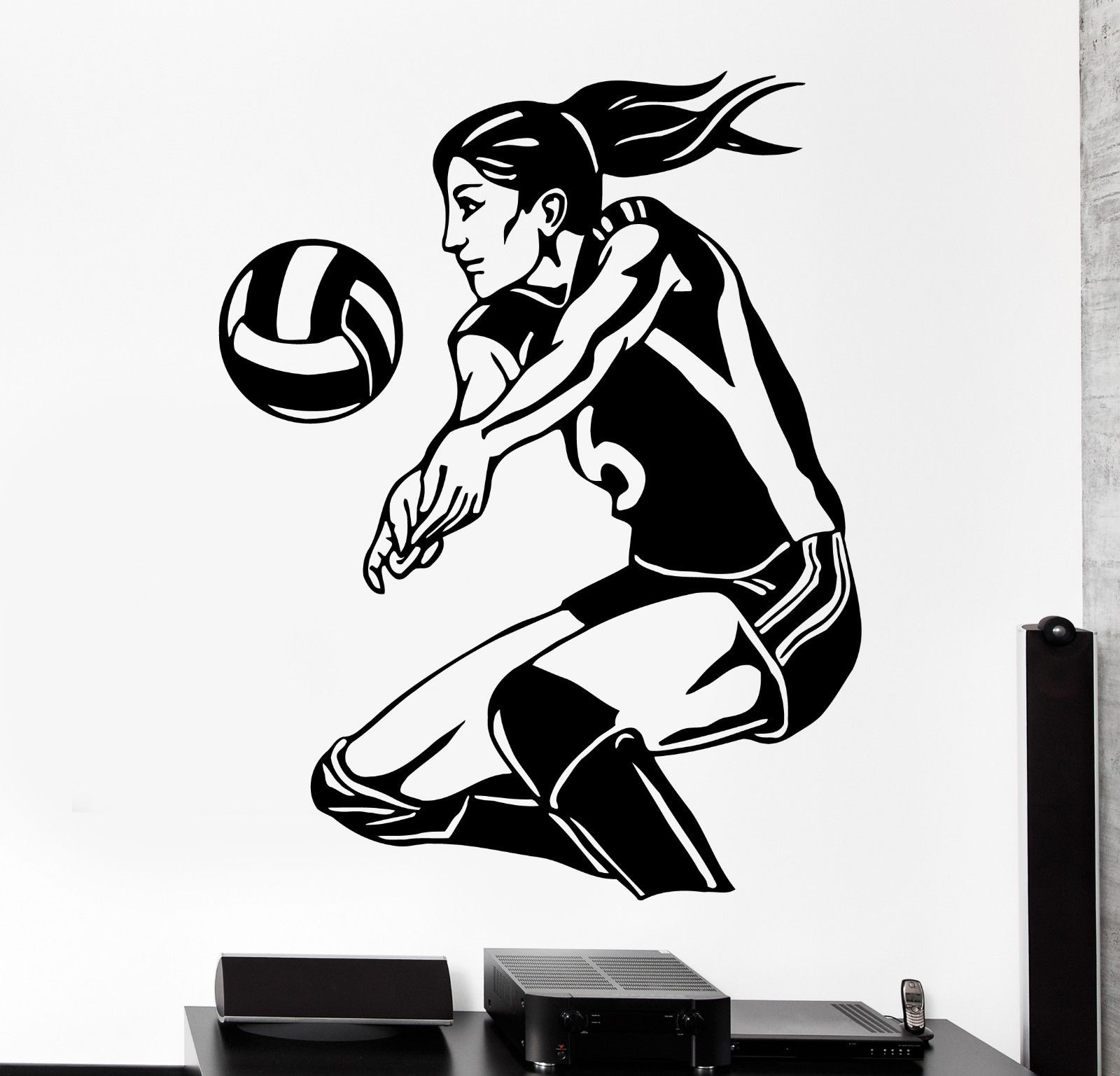 Compare Prices On Volleyball Decals Online ShoppingBuy Low Price - Vinyl volleyball wall decals