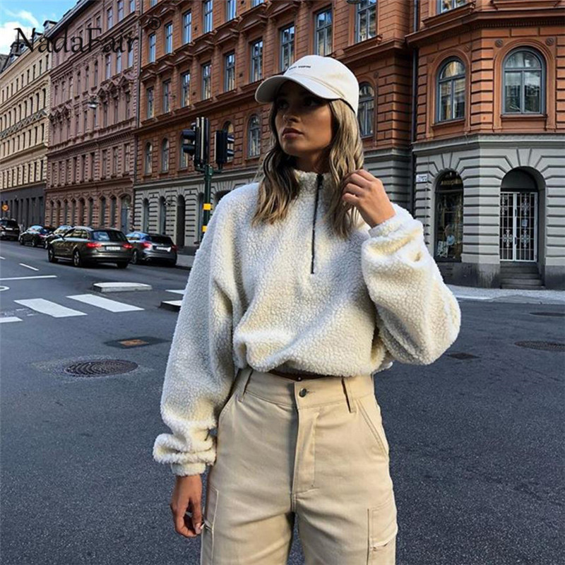 white zipper turtleneck hoodies16