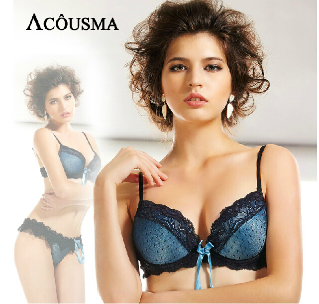 13dfc175659 Elegant Women Lace Embroidery Bra Underwear Sexy Push Up ...