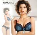Elegant Women Lace Embroidery Bra Underwear Sexy Push Up Secret Single Brassiere Sutia Adesivo BS242
