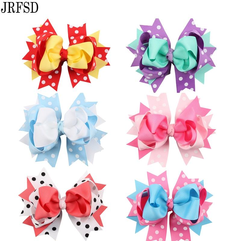 JRFSD 2016 Cute   Headwear   Ribbon Bow With Clips Cartoon Printed Hair Clips Hair Accessories Bobby Pins