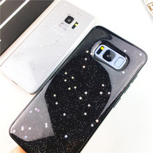 Glitter köpüklü yıldız samsung kılıfı Galaxy J6 2018 J3 J7 J8 2018 A8 A6 2018 A6 ARTı NOT 8 9 5 j5 2017 J730 S7 S8 S9 ARTı
