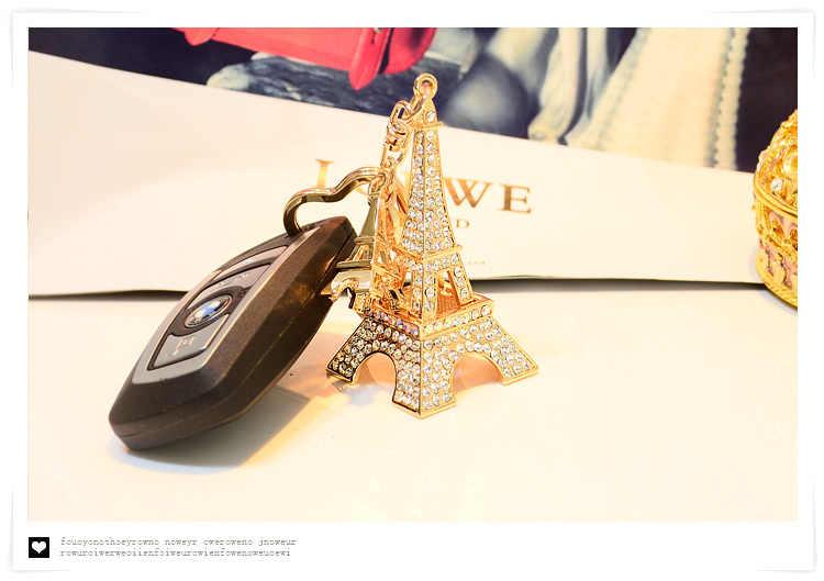 New Paris Tháp Eiffel Móc Khóa Mặt Hàng Mới Lạ Vật Phẩm Sáng Tạo Chìa Khóa Xe Vòng Chuỗi Thời Trang Keyring Key Fob Phụ Nữ Túi Quyến Rũ