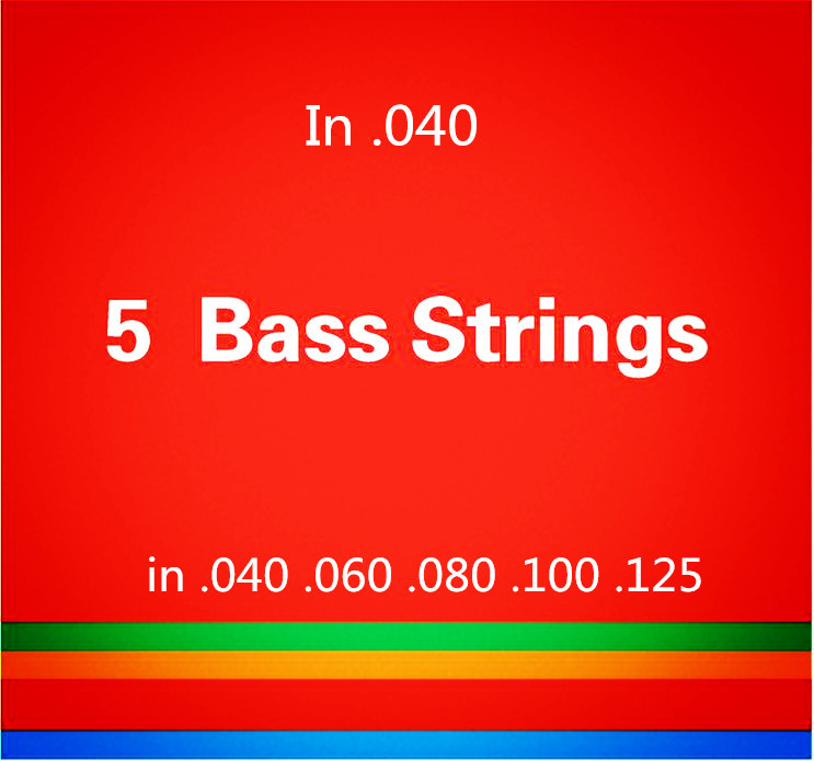 5 strings Bass guitar strings  .040-.125 Electric Bass Strings guitar parts wholesale musical instruments accessories rotosound rs66lc bass strings stainless steel