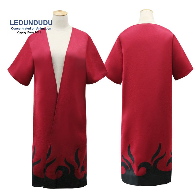 Naruto Cosplay Costumes Robes Shippuden Naruto Uzumaki Sage mode Red Cloak clothes for Halloween Party Cosplay