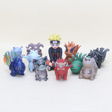 11pcs/lot Naruto Figure Toy Bijuu Tailed Beasts Kurama Gyuki Shukaku Chomei Saiken Kokuo Son Goku Isobu Matatabi figure doll(China)