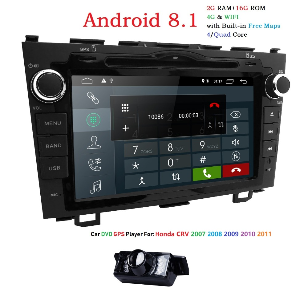 Hizpo Quad Core 2G 16G 2DIN Android 8 1 Car DVD Player For HONDA CRV CR
