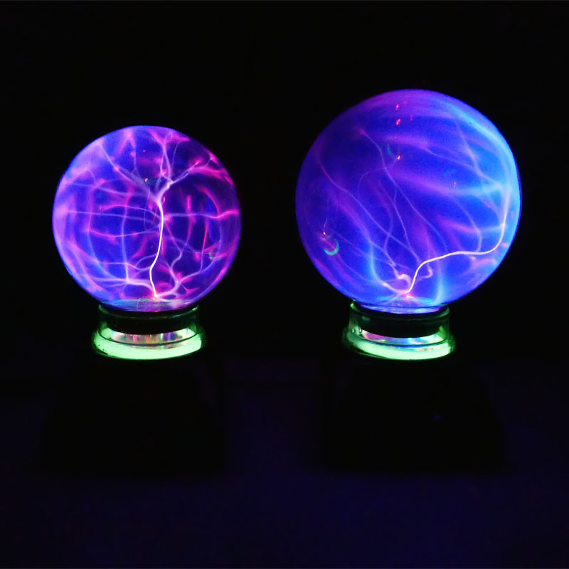 Magic Black Base Glass Plasma Ball Sphere Lightning Party Lamp 5 6 inch Crystal Magic Ball Purify Air Novelty Nighting Decor magic ball