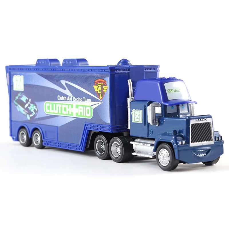 Hot Disney Pixar Cars 3 2 Mainan Lightning McQueen MACK Paman Truk Jackson Badai Mater 1:55 Diecast Logam Paduan Mobil anak Hadiah