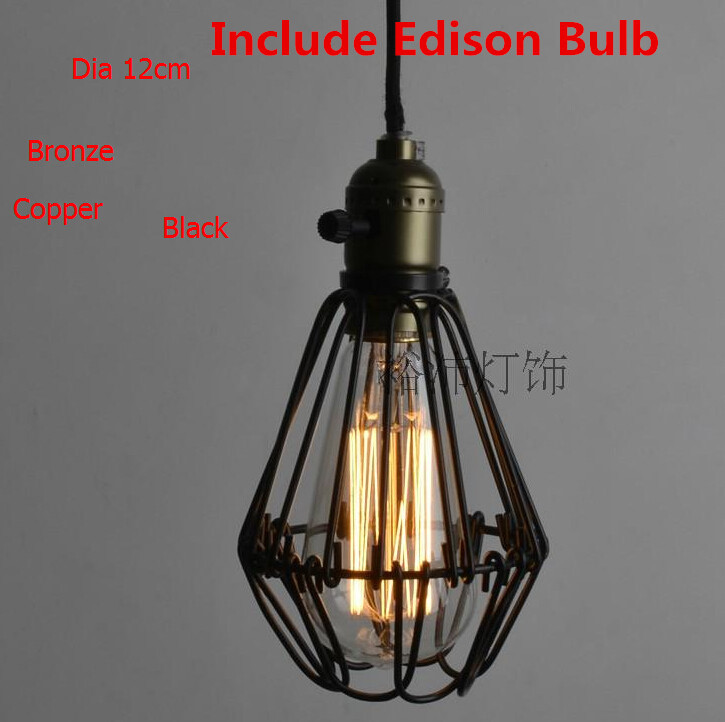 New Year Iron Retro Pendant Lights American Country Industrial Penant light RH LOFT Hanging Lamp Fixtures Edison Bulb 110-240VNew Year Iron Retro Pendant Lights American Country Industrial Penant light RH LOFT Hanging Lamp Fixtures Edison Bulb 110-240V