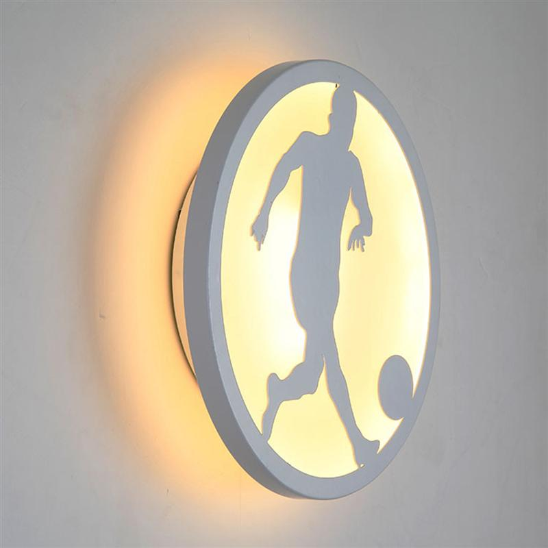 7W LED Round Mount Wall Lamp Playing Football Sconces Minimalist Fixtures Special For Home Bedroom Luminaire Decoration бра leds c4 wall fixtures 05 1637 i1 55
