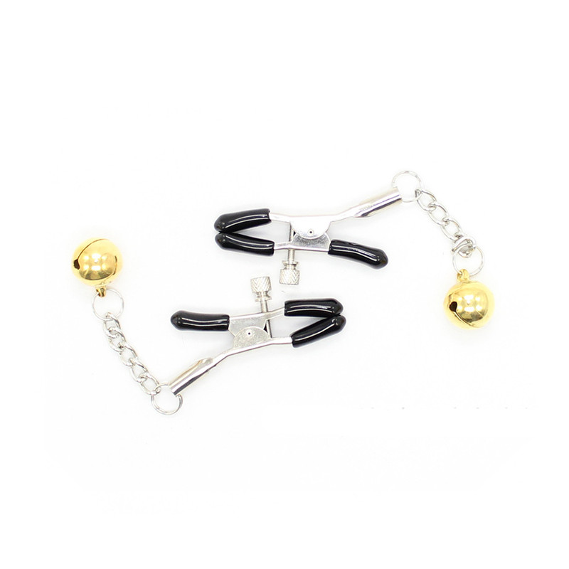 Aliexpresscom  Buy Cheap Metal Sexy Breast Clamps Nipple Clips With Bells Adult Game -2284