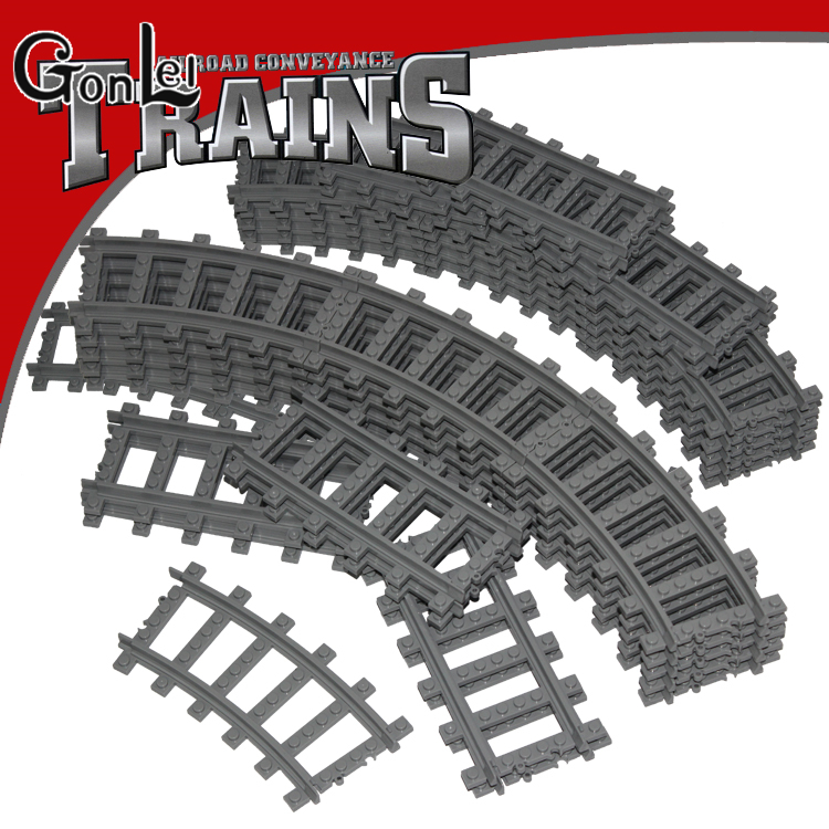Cheapest gonlei single sale train track building blocks