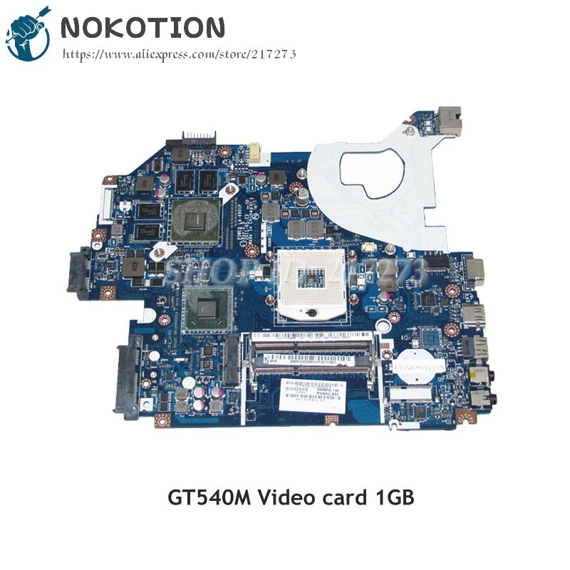 NOKOTION Laptop Motherboard For Acer aspire 5750 5750G DDR3 HM65 GT540M 1GB MBRCG02006 MB.RCG02.006 P5WE0 LA-6901P 2gb p5we0 la 6901p mbrcg02006 for acer aspire 5750 5750g 5755g laptop motherboard non integrated working pretty well