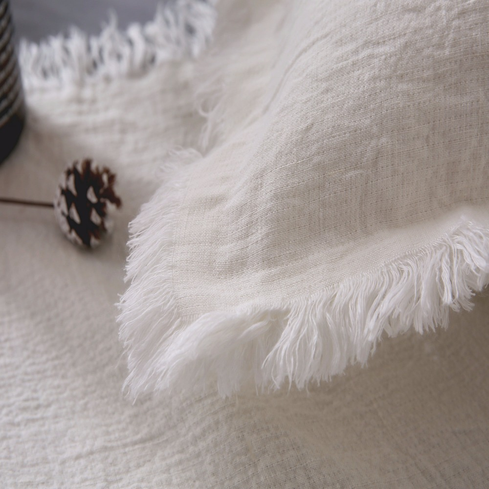 ESASILK Fringed edge Linen Square Pillowcase 100%French Linen Cushion - Home Textile - Photo 4