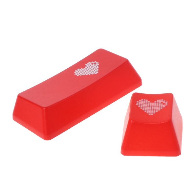 1Pc Red Love Heart Pattern Mechanical Keyboard Keycap ENTER/ESC Key Cap Hat For PC Computer Notebook Use Supplies C26
