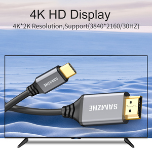 Image 4 - SAMZHE 4K*2K Type C to HDMI Cable 30Hz Resolution USB C to HDMI Adapter for Apple Macbook XiaoMi Air HuaWei MateBook and Phone