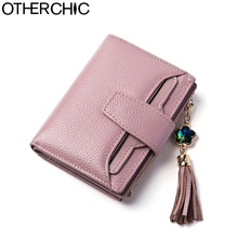 OTHERCHIC Fashion Short Real Leather Women Wallets Small Tassel Wallet Coin Purse Pocket Female Card Holders Money Bag 7N01-06