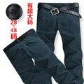 Envío libre más el tamaño 4xl 6xl 8xl 50 52 mens hip hop pantalones de los hombres militares de algodón pantalón jeans de marca pantalones casuales de gran tamaño grande