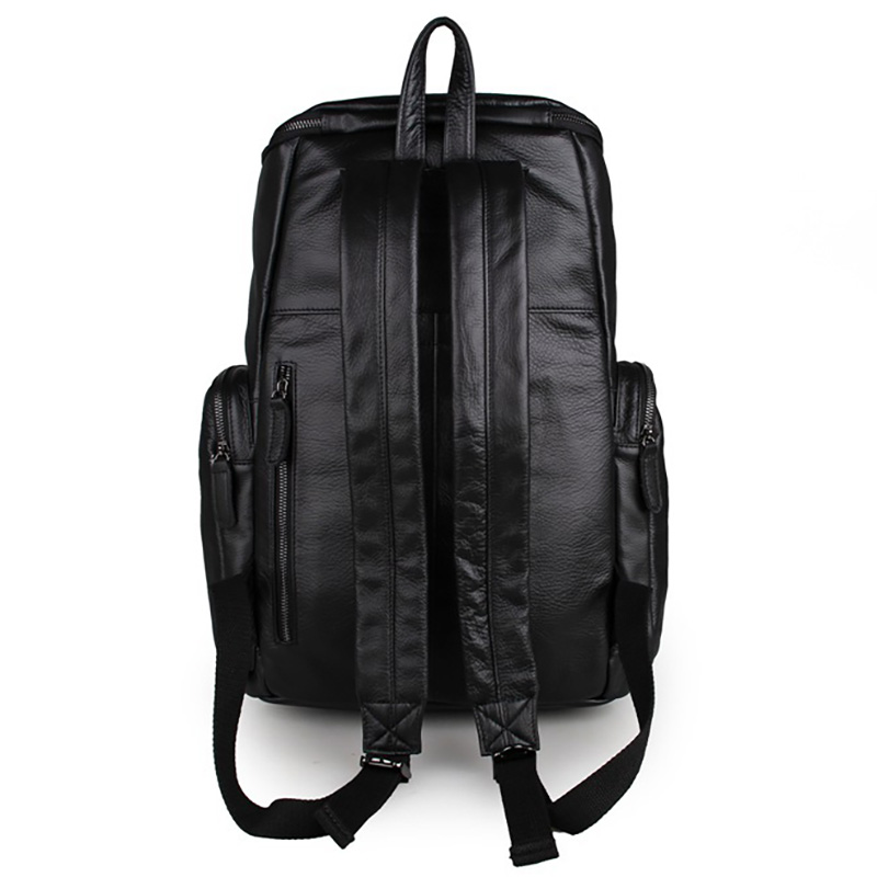 Mochilas Crazy Horse Cowhide Men Backpack Genuine Leather Daypack Travel Casual School Book Bags Brand Male Laptop Rucksack
