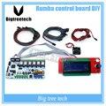 Rumba BIQU placa de controle DIY cooler fan + + display LCD 2004 controlador + jumper + DRV8825 Stepper motorista para impressora 3D reprap