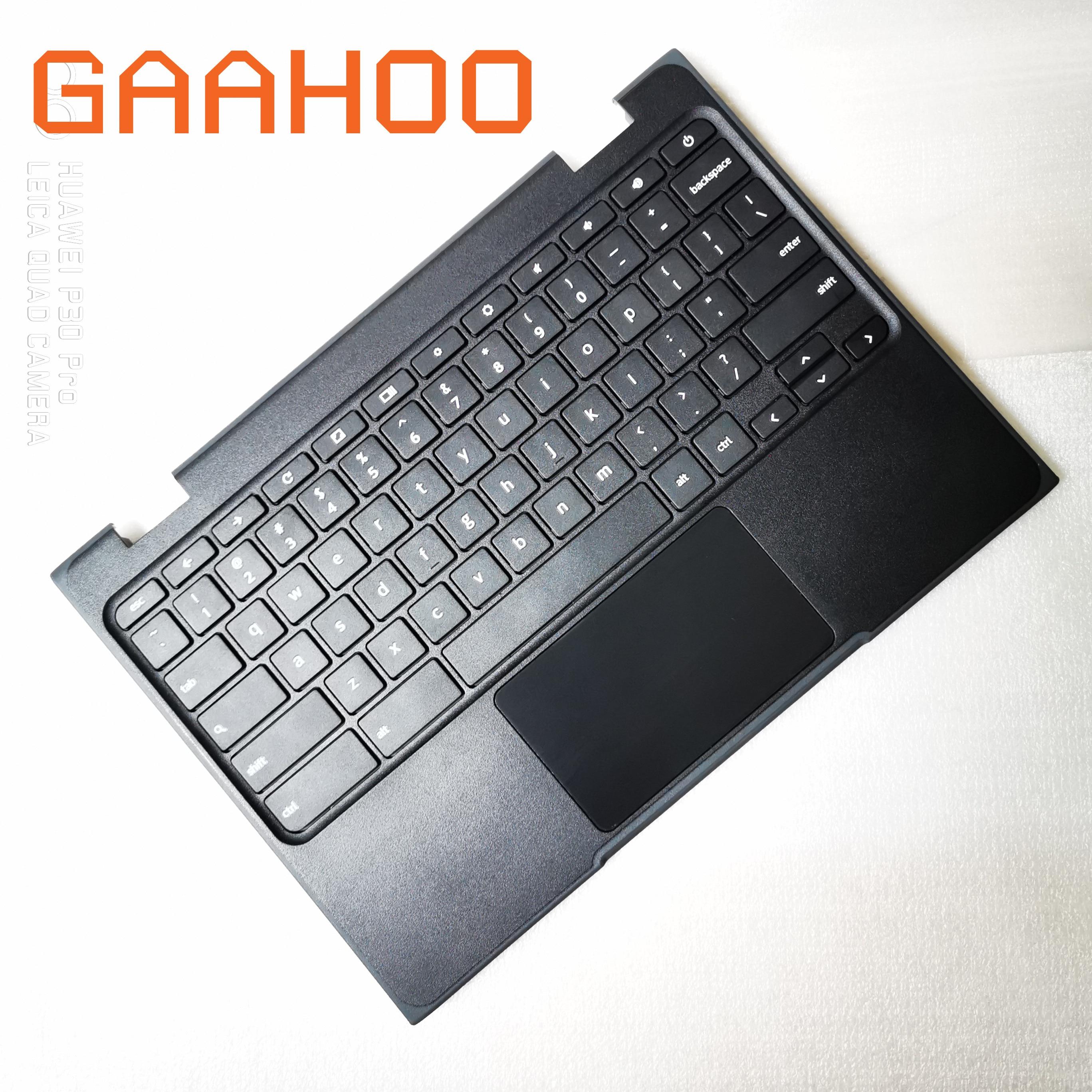 Tout nouveau clavier original des états-unis pour LENOVO CHROMEBOOK N24 100E ordinateur portable ensemble palmrest/w touchpad et clavier US noir