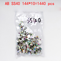Wholesale Rhinestones New AB Ss40 1440pcs 8 6mm Crystal Color Non Hotfix Rhinestones For Nails Flatback
