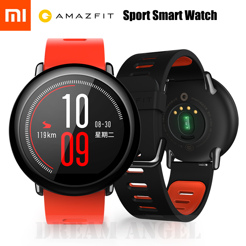 IN STOCK Xiaomi HUAMI AMAZFIT Sports Smart Watch Bluetooth 4.0 WiFi Dual Core 1.2GHz 512MB RAM 4GB ROM GPS Heart Rate Monitor