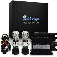 Safego AC 12 V H4-3 xenon H4 Bixenon kit hid H4 hi lo Hoge lage 6000 K 8000 K 4300 K 5000 K 35 W BI-XENON H4 Bi xenon H4 hid xenon kit