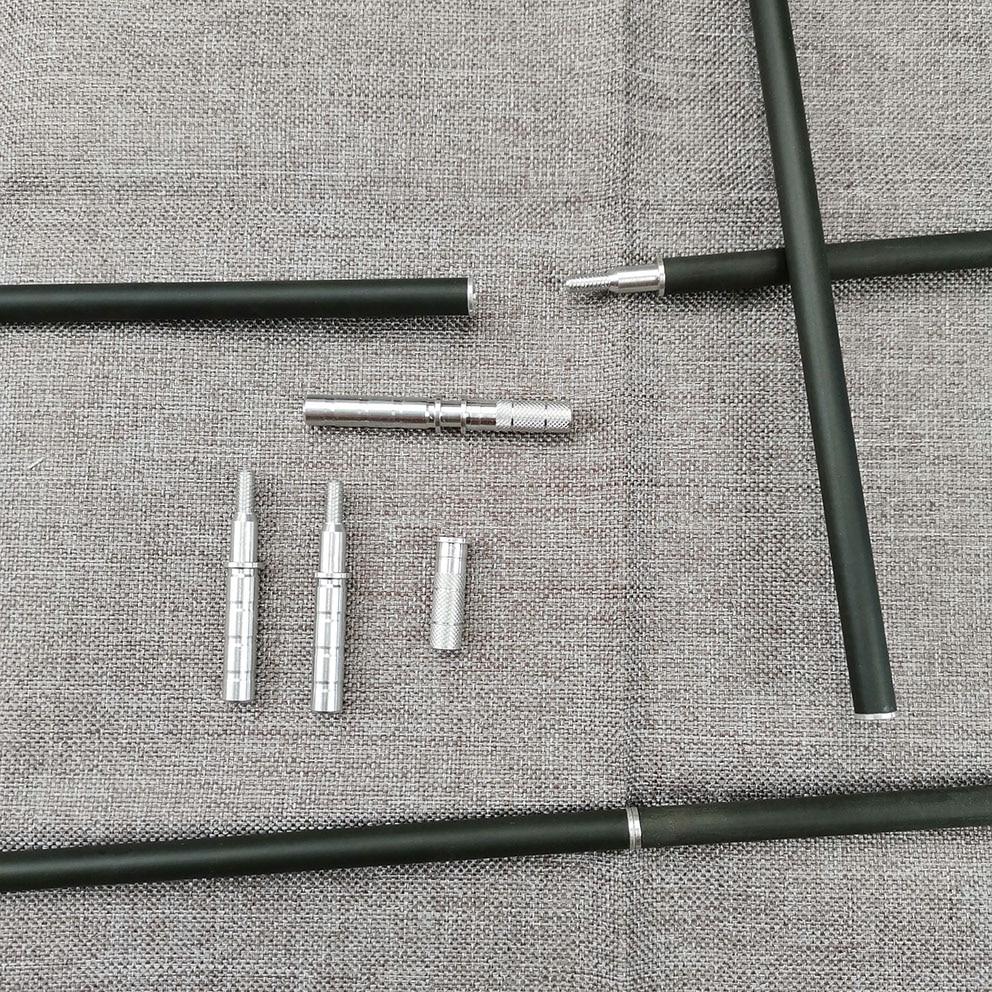 Archery ID 6.2 Mm OD 7.6 Mm Aluminum Arrow Insert Arrow Connecter For Take-down Arrow Shaft