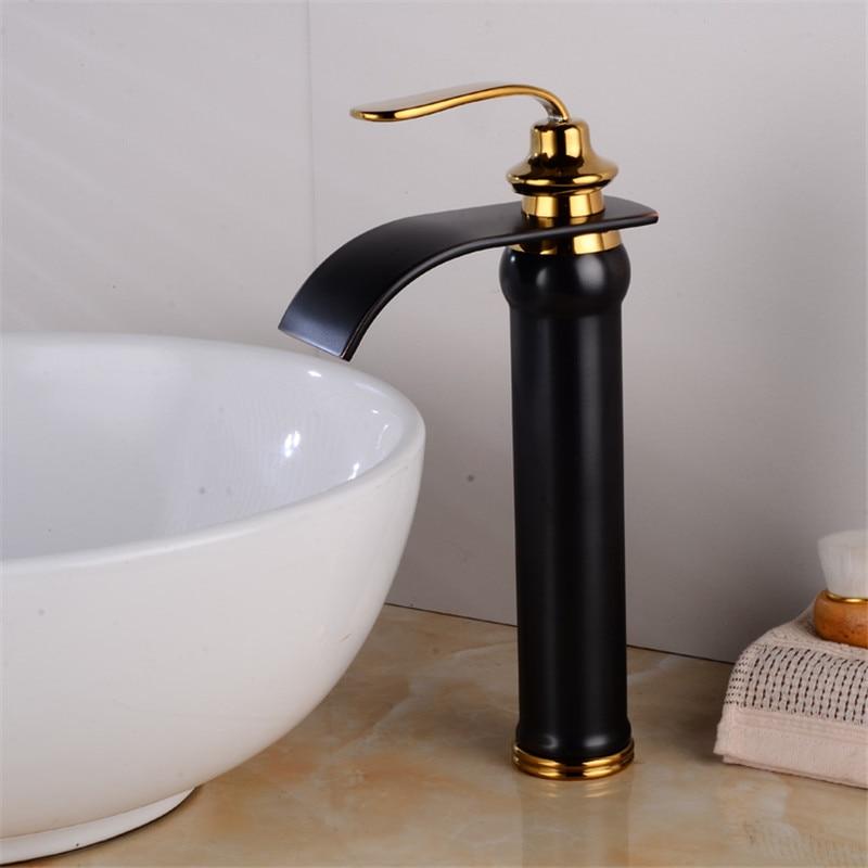 Basin Faucet Brass Black And Gold Bathroom Faucet Torneiras Para Pia De Banheiro Wash Faucet