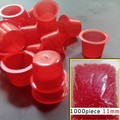 HOT SALE RED 1000pcs Plastic Tattoo Ink Cups Caps  # 11 MediumTattoo Supplies Free Shipping