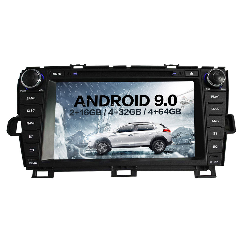 Android 9 Car DVD Player GPS Navigation Stereo head unit for Toyota Prius 2009 2013 Car