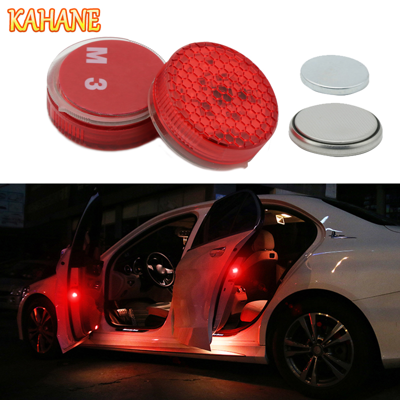 KAHANE 2x LED D'avertissement de Porte de Voiture Lumière Lampe De Voiture Lumière Stroboscopique POUR Nissan Qashqai x-trail t32 Juke Toyota C-HR Avensis Corolla RAV4