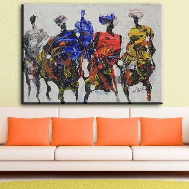 ZZ1359 Moderne Abstrakte Leinwand Abstrakte Afrikanische Menschen Leinwand  Bilder öl Kunst Malerei Für Wohnzimmer Schlafzimmer Dekoration