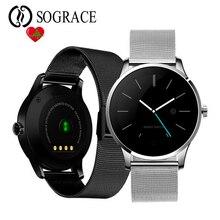 Bluetooth Smartwatch Relógio Inteligente MTK2502 K88H Dail Chamada Resposta de Freqüência Cardíaca Monitor de Pista Dos Homens Relógio de Pulso para IOS Android Phone